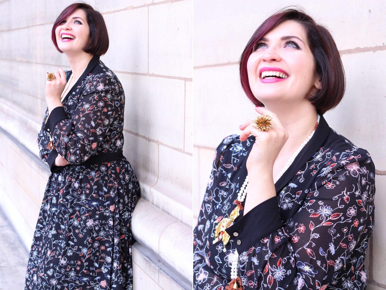 robe florale noel