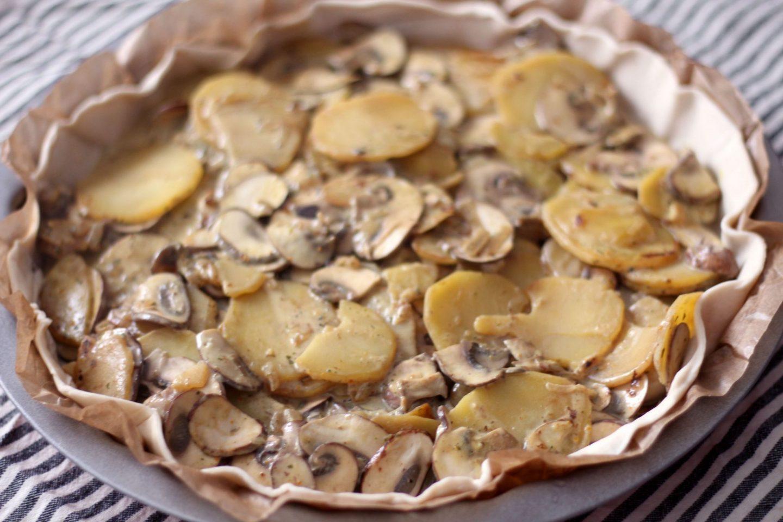 tourte pommes de terre champignons