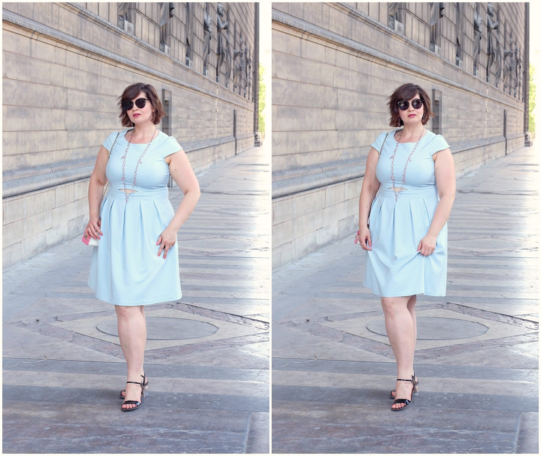 summer look for curvy women