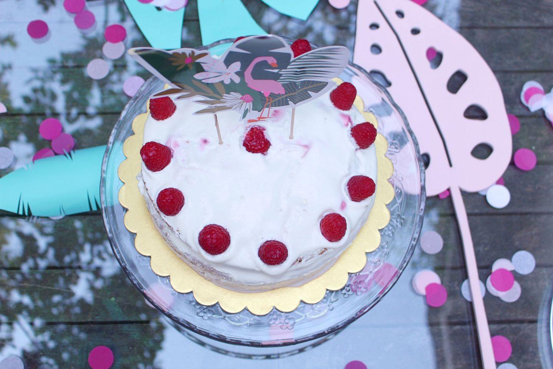 raspberry white chocolate naked cake