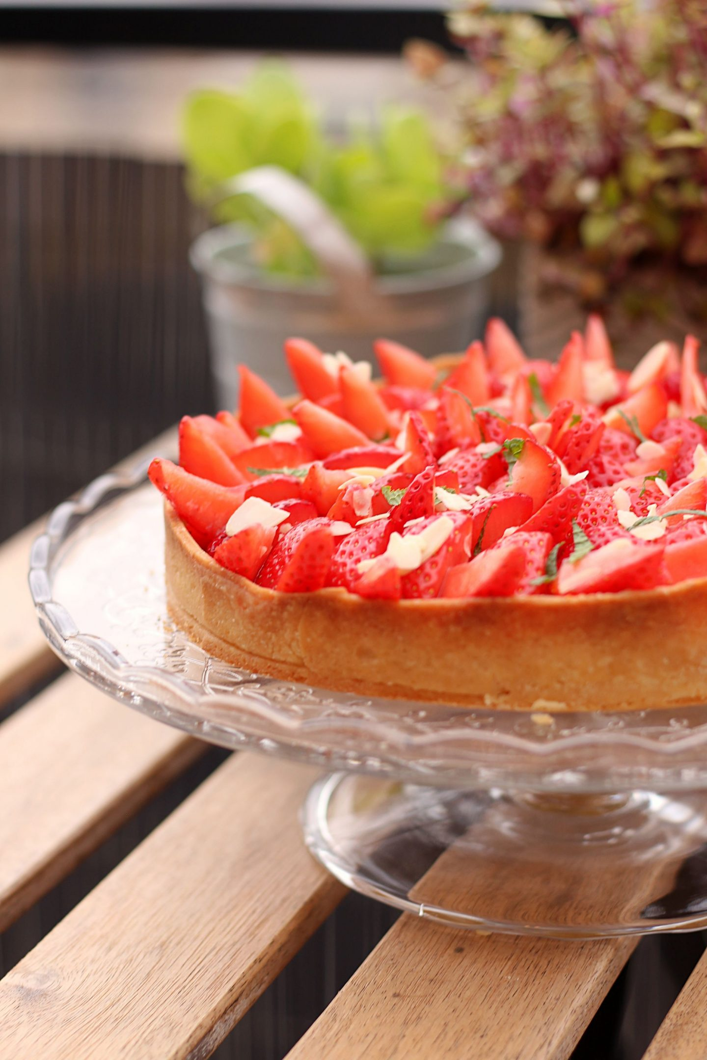 Recette facile tarte fraises amande